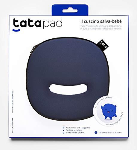Dispositivo Anti Abbandono Compatibile con Tutti i Seggiolini Auto. Tata Pad con 3 livelli di allarme è conforme alla Legge. Prodotto in Italia da Filo srl