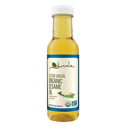 Kevala, Aceite de Ajonjolí, Orgánico, Extra Virgen, 354ml