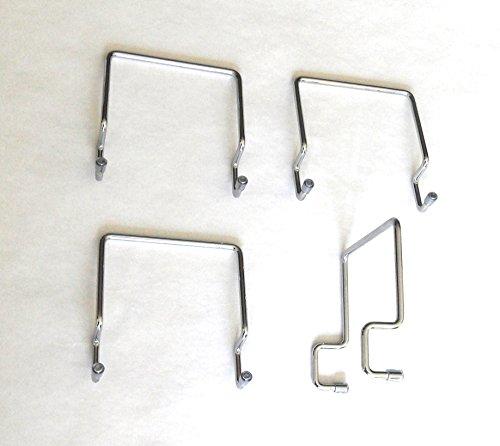 Ferma materasso laterale per rete in metallo 30 x 30, cromato (4 pezzi)