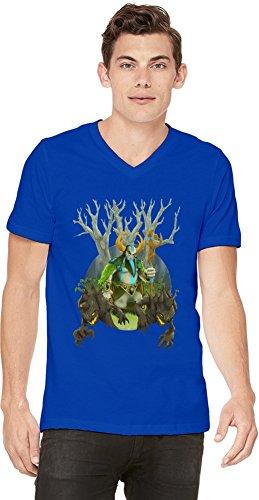 Dota 2 Hero Nature Prophet Mens V-neck T-shirt Large