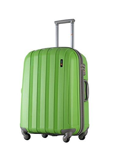 Luggage X - 30' (77cm) Hard Shell Green Polypropylene Trolley Suitcase
