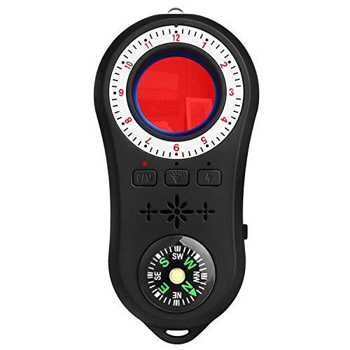 Detector Anti Espía Detector de Cámara Oculta con Infrarrojos y LED Alarma Antirrobo para Hotel o Casa