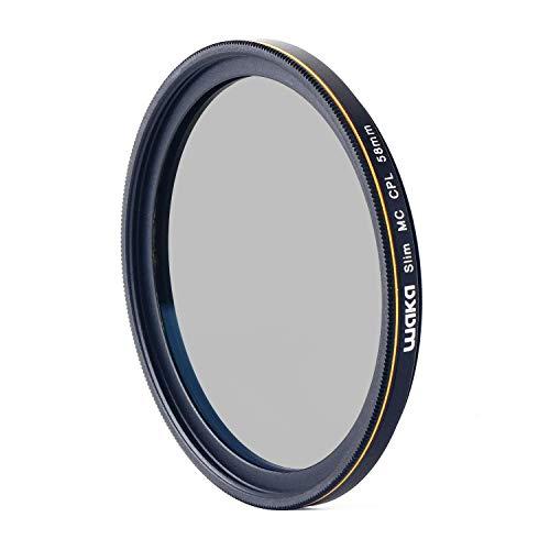 waka 58mm Circular Polarizing Filter, Ultra Slim 16 Layers MRC CPL Glass Polarizer Filter for Canon Nikon Sony DSLR Cameras Lens