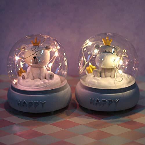 Gyjcd Twee Sterren Lichten Verjaardagscadeau Decoratie Cartoon Student Cadeau Led Tafellamp Woninginrichting