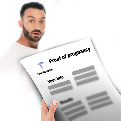 Personalized Pregnancy PRANK Pregnancy-Test Results Joke Custom Document of Proof of Pregnancy
