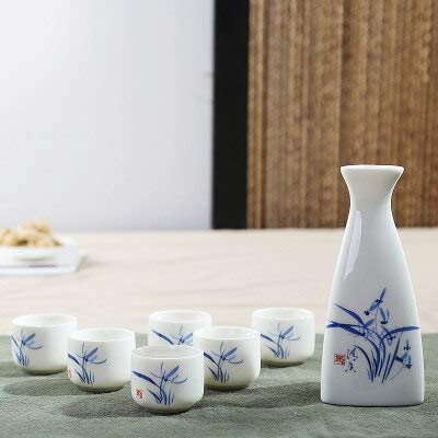 Rocco Bar Sets - pcs/Lot keramische Sake Pot Cups Set Flaon Liquor Whisky Cup drinkwaren Japanse wijnsets Dining bar Home Kitchen Tableware - by 1 PC Blue Broccoli