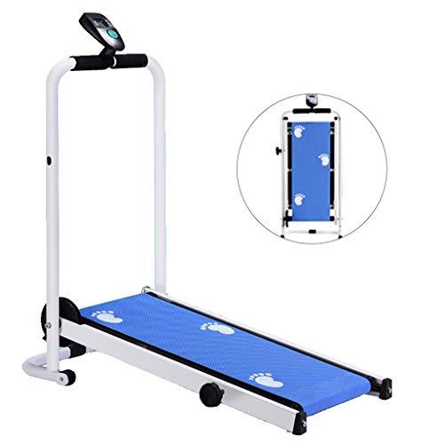 Laufbänder Mechanische Mini Faltlaufband Haushalts-Gehmaschine Ohne Strom Einfache Und Intelligente Sport Fitness (Color : Blue, Size : 88 * 45 * 108cm)