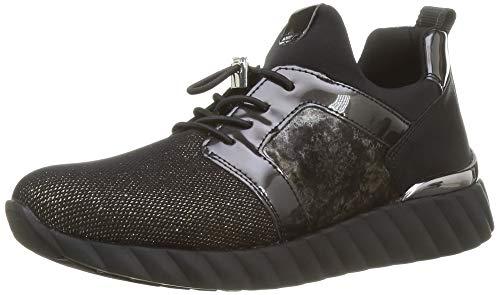 Remonte Damen D5902 Sneaker, Schwarz-Bronze/Blei/Schwarz-Metallic/Schwarz/Nero/ 02, 40 EU