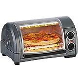 Yongqin Hot Pot Barbecue Halogenofen 1300W Elektroofen Haushalt Multifunktionaler Mini-Backofen Zum...
