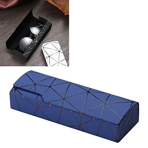WWTTE Gitter-Muster-bewegliche Glas-Kasten (weiß) H (Color : Blue)