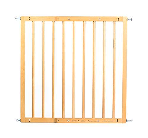 reer Türgitter und Treppengitter Basic zum Schrauben, Holz, stabiler Halt, Durchgangsbreite 65,5-106cm