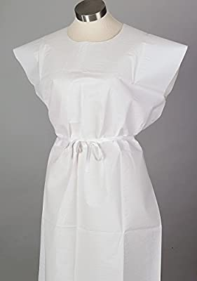 3-ply Disposable Examination Gown, 50 Per Case