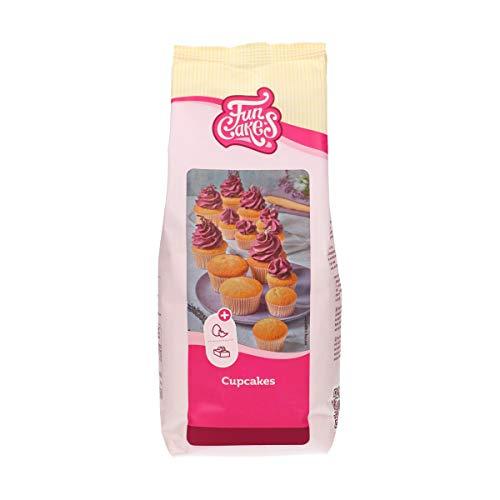FunCakes Preparado para Cupcakes: Fácil de Usar, Cupcakes Perfectamente Uniformes, Mini Cupcakes o Pasteles, Sabor a Vainilla, Calidad de Pastelería, Halal. 1 Kg. 1000 g