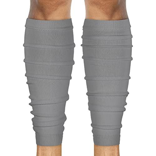 SLEEFS Calf Compression Leg Sleeves - Football Leg Sleeves for Adult Athletes - Shin Splint Support (Gray)