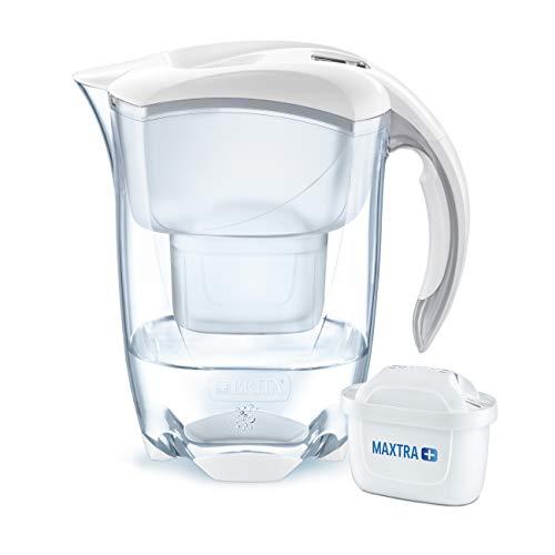 BRITA Wasserfilter Elemaris weiß, inkl. 1 MAXTRA+ Filterkartusche – das Premium-Modell zur zuverlässigen Reduzierung von Kalk und Chlor im Leitungswasser