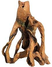 POPETPOP Árbol de Acuario Ornamento del Tronco de Peces Que Ocultan La Cueva Registro de Resina Tocón de Árbol Artificial Escondite de La Cueva de Peces Tanque Decoración de Paisaje para