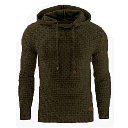 nurrat Men Oversize Hoodie Sweatshirt Casual Long Sleeve Slim Sweatshirts Pullover Tops,Size S-5XL Active Hoodies Army Green