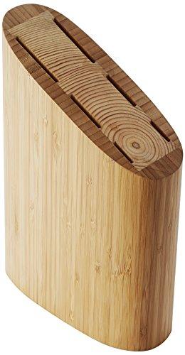 Point-Virgule PV-BAM-1124 - Blocco per coltelli, in bambù, 18,5 x 8,5 x 26,5 cm, Colore Marrone