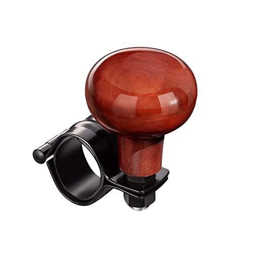 Pomo Volante Dirección del grano de madera de la rueda pomo giratorio Universal Fit todos los coches, camiones, Semis, tractores, barcos, carros de golf de alimentación de accesorios Mango 1