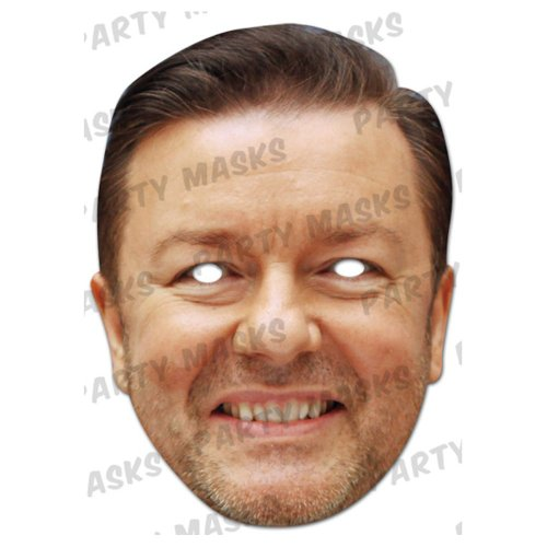 Ricky Gervais face mask Fancy Dress Déguisement Comedian acteur (Masque)