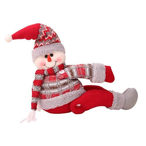 BESTOYARD Hebilla de Cortina Diseño de Muñeco de Nieve para Decoración de Ventana de Navidad