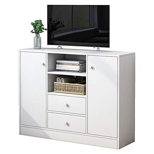 FA-HX Mueble de TV, mueble de TV de pie, mueble de TV moderno y minimalista para sala de estar, casilleros de almacenamiento de DVD y libros/A / 100×30×80cm