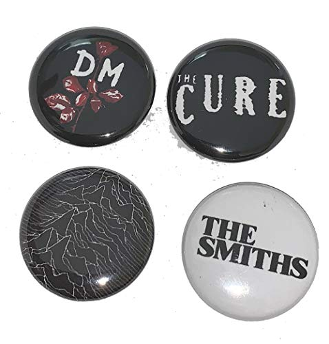 80'S Band Button Pack - The Cure The Smiths Depeche Mode Joy Division - 1 INCH PIN Back