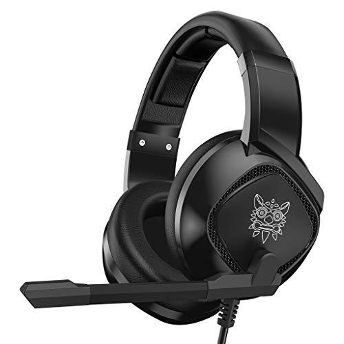 Eariy Kopf Montiert KopfhöRer, 3,5 Mm Gaming Stereo Headset Mic Led KopfhöRer FüR Ps4 / Pc, Hervorragende KlangqualitäT, GroßE KompatibilitäT, Noise Cancelling Einstellbares Mikrofon