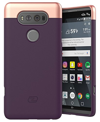 LG V20 Case Purple - Encased Ultra Thin (2016 SlimShield Edition) Full Coverage, Hybrid Tough Shell