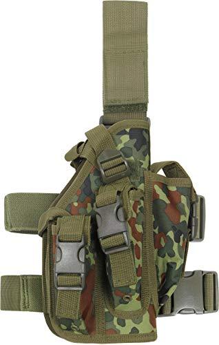 normani Pistolenbeinholster mit Magazintaschen und Bein- und Gürtelbefestigung Expansion Pack Farbe Flecktarn