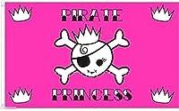 国旗 海賊旗 パイレーツ スカル 骸骨 プリンセス 姫 特大フラッグ