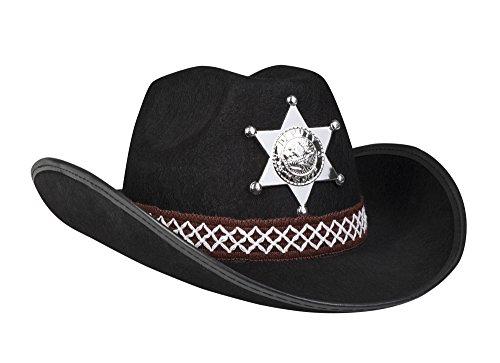 narrenkiste B04110 schwarz Kinder Sheriff Hut Cowboyhut