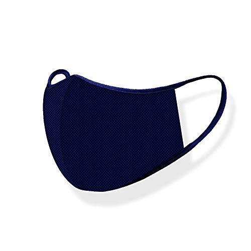 マスク エア抗菌マスク 繰り返し洗える 呼吸がしやすい 吸水速乾 冷感 ひんやり 立体マスク メッシュ スポーツマスク 夏マスク 日本製 Mサイズ ふつうサイズ ネイビー