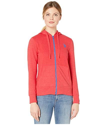 U.S. Polo Assn. Sweat à Capuche zippé en Tissu éponge pour Femme - Rouge - X-Large