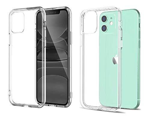 QD Coque iPhone 11 Transparente en TPU 6.1 Pouces pour téléphone Portable Apple Model 2019. Housse de Protection pour Smartphone. Bumper Transparent, Etui Fin Souple et Anti Choc Pas Cher.