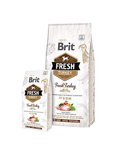 Brit 12kg Fresh Turkey & PEA, Fit & Slim, für übergewichtige und ältere Hunde