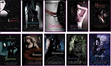 House of Night Series Complete Set, 10 Book Collection, Volumes 1-10 By P.C. Cast + Kristen Cast (Titles include: Marked / Betrayed / Chosen / Hunted / Tempted / Burned / Awakened / Destined / Hidden)