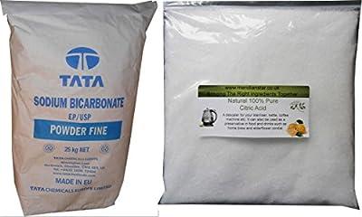 Citric Acid 500g & Bicarbonate of Soda 500g Food Grade.