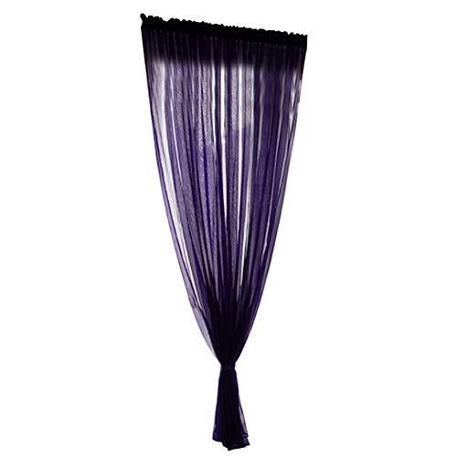 Fdit Sciarpe in Poliestere per Trattamento della Finestra Sciarpe Voile Voile Sciarpa per Tende Elegance Valance per Cucina Camera da Letto e Piccole finestre(1x2.7m-Viola)