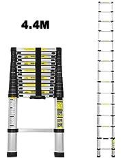 Escalera telescópica plegable de aluminio, multifunción, fácil de transportar, carga máxima 150 kg