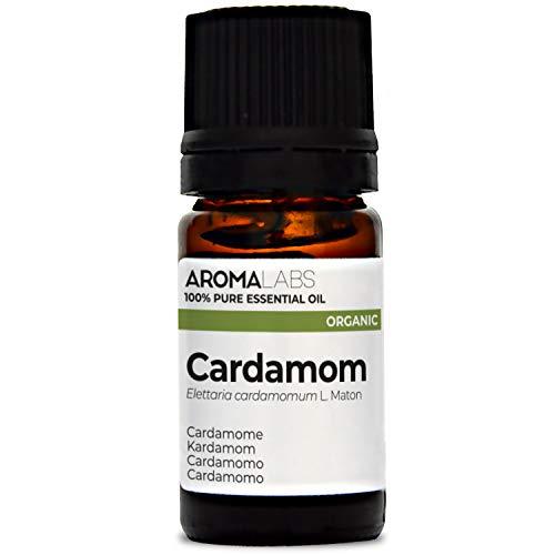 Aroma Labs Cardamomo Bio - 5Ml - Olio Essenziale Bio E Naturale Al 100% - Qualità Verificata Mediante Cromatografia - Aroma Labs - 5 ml