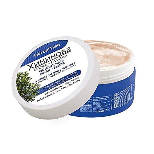 Quinine Masque Capillaire - Elixir, Traitement puissant contre la chute des cheveux Sans Parabènes Sans Silicones Sans Sulfates