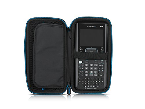 Supremery for Texas Instruments TI-Nspire CX/CAS Graphing Calculator Case Cover EVA Shockproof Travel Storage - Black/Blue Photo #3