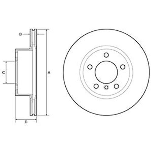 Preisvergleich Produktbild Bremsscheibe - Delphi BG4645C