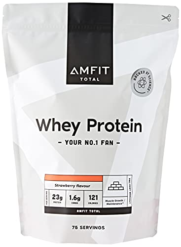 Amazon Brand - Amfit Nutrition Whey Protein Powder 2.27kg - Strawberry (Previously PBN brand)