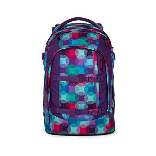satch Pack Hurly Pearly, ergonomischer Schulrucksack, 30 Liter, Organisationstalent, Blau/Türkis/Pink