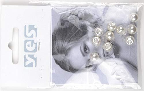 Solida Lot de 10 piercing cheveux perle blanc