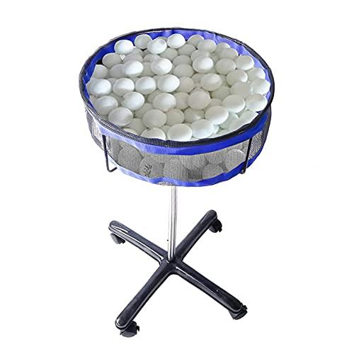 WHCL Colector de Bolas de Ping Pong, Soporte de Almacenamiento de Bola múltiple, portura Ajustable con Pelota de Tenis con Estuche de Malla, para Pelota de Golf Pelota de Tenis y bádminton,Azu