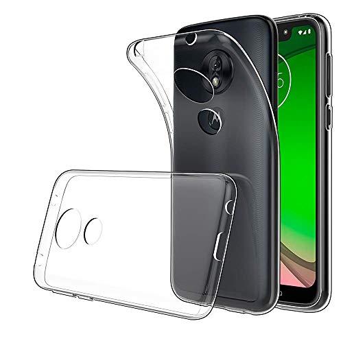 Yichxu Motorola Moto G7 Play Hülle, Crystal Clear Silikon Handyhülle für Moto G7 Play, Weiche TPU Durchsichtige Schutzhülle Ultradünn Case Cover für Motorola Moto G7 Play - Transparent