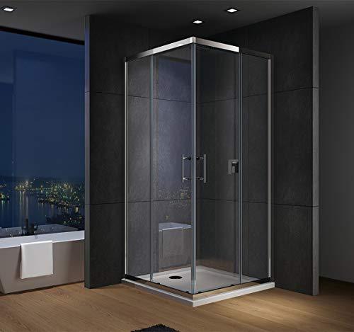 IMPTS Duschwanne Duschtasse 80x120cm Eckig Acryl Dusche Acrylwanne 4cm flach für Duschabtrennung Duschkabine,OHNE Ablaufgarnitur